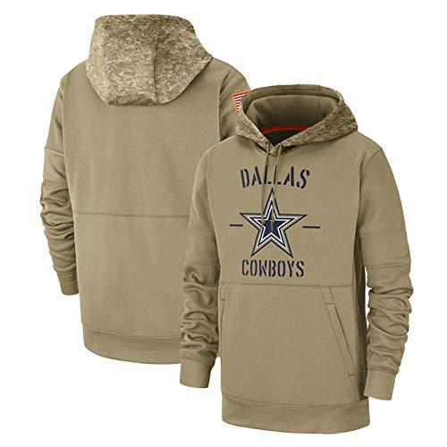 HOXMOMA NFL Amerikanischer Fußball Kapuzenpulli Dallas Cowboys Herren Fans Trikots Freizeit Sweatshirt, Kapuzenpullover Long Sleeve Hoodies Herren Fußball Team Hoodie,L