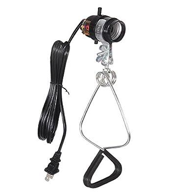 Simple Deluxe HIWKLTCLAMPSOCKET 18/2-Gauge Brooder and Heat Clamp Lamp with Bakelite Socket 150 Watt 6 Feet Cord, 1-Pack, Black