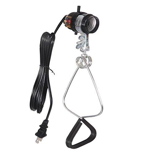 Simple Deluxe HIWKLTCLAMPSOCKET 1-Pack E26 Clamp Light Socket up to 150 Watt 18/2-Gauge 6 Feet Cord, Black