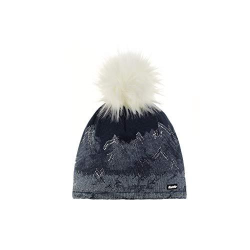Eisbär Damen Draw Lux Crystal MÜ Mütze, White-Dark Cobalt/White
