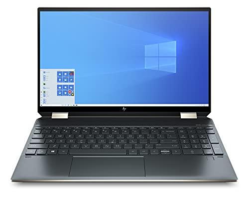 "HP Spectre x360 15-eb0000sf PC Portable Convertible et Tactile 15.6"" 4K OLED Bleu Poséidon (Intel Core i5, RAM 16 Go, SSD 1 To, AZERTY, Windows 10)"