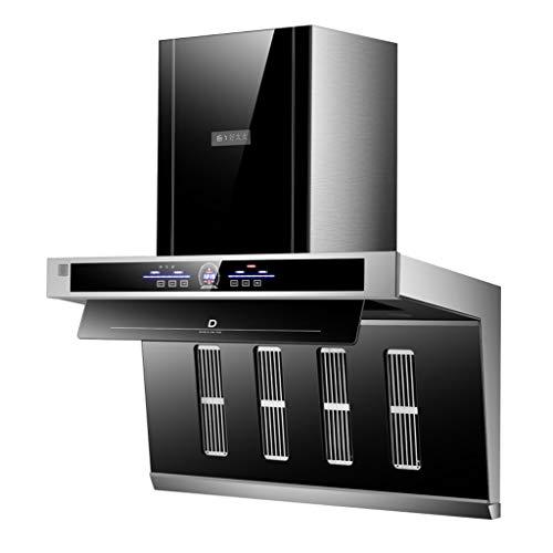 Campana Extractora De Cocina, Pantalla Táctil Y Control Somatosensorial, Iluminación Activada, 26m³ / Min, Extractor Autolimpiante, negro
