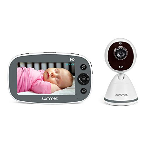 "Summer Pure HD 4.5"" Color Video Baby Monitor – 3-Level Digital Zoom Baby Monitor with 12x More Pixels – Features Digital Image Steering, Night Vision, Lullabies, White Noise, Temp Display, and More"