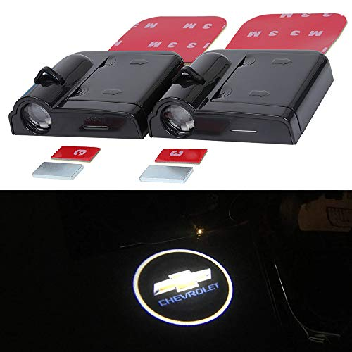 2Pcs LED Car Logo Lights Ghost Light Door Light Projector Welcome Accessories Emblem Lamp For Chevrolet Cruze Captiva Lacetti ASTRA ASTRO Aveo Caprice Sport Cargo Van Cavalier Celebrity Chevy Monza