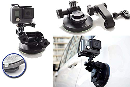 Suction Cup for Gopro Mount Car Windshield Window Vehicle Boat Camera Holder for Gopro Suction Cup Mount Windshield Mount - for GoPro Hero 9 Black Max 360 Hero 8 Black Hero 7 Hero 6 HD by SublimeWare