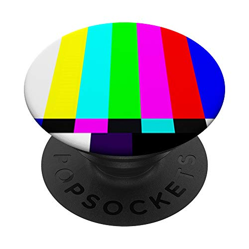 Cool Vintage TV Color Bars SMPTE Design PopSockets PopGrip: Agarre intercambiable para Teléfonos y Tabletas