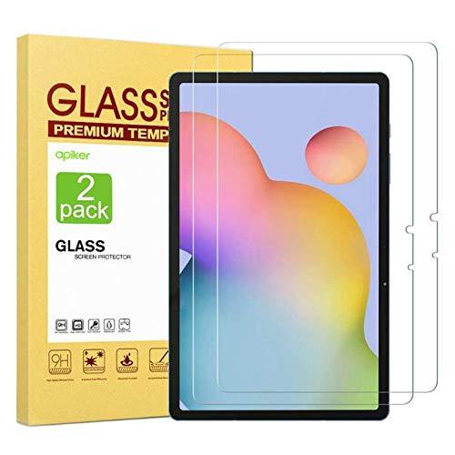 apiker [2 Stück Panzerglas für Samsung Tab S7[11 Zoll], Samsung Galaxy Tab S7 Schutzfolie mit 9H Härte,Bläschenfrei,Sensitive Touch,einfach anzubringen