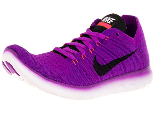 Nike Damen WMNS Free RN Flyknit Laufschuhe, Blau Hypr VLT Blk TTL Crmsn LSR ORN, 37.5 EU