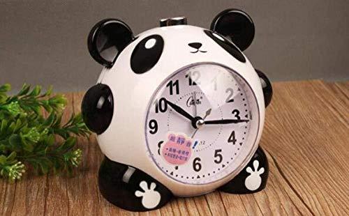DZXYW Reloj Despertador Dibujos Animados Panda Despertador luz Nocturna electrónica Campana 16 música polifónica Super silenciosa Jugando Despertador