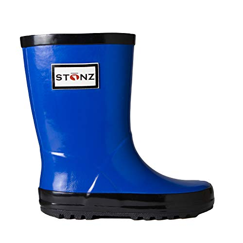 Stonz Natural Rubber Rain Boot (Toddler/Little Kid/Big Kid), Royal Blue, 12T