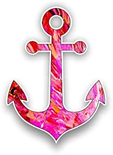 Vinyl Junkie Graphics Boat Anchor Sticker Custom Graphic Decal for Notebook car Truck Laptop Many Color Options (Red Pink)