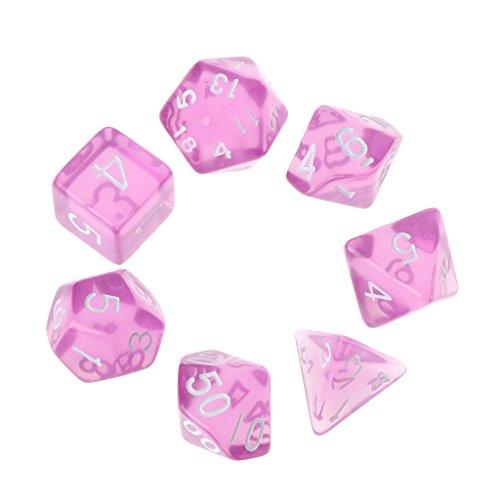 7pcs/Set Polyhedral Multi Cara dados D4-D20 Mazmorras y Dragón D & D RPG Poly Game
