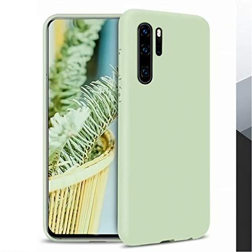 CRABOT Compatibile con Huawei P30 Pro Custodia Silicone Liquido Antiurto Gomma Gel Morbido Anticaduta Resistente Ai Graffi Shell del Telefono+1*(Protezione Schermo Gratuita)-verde