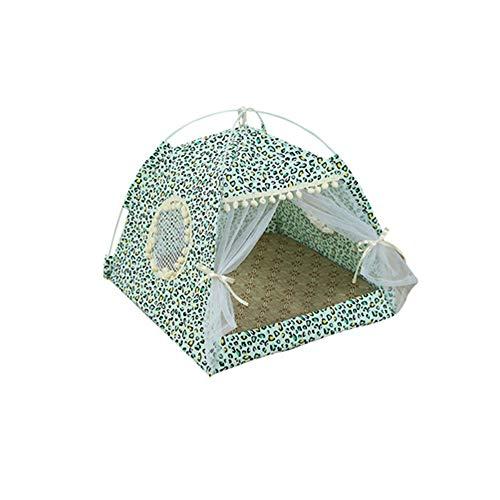 &liyanan Hund Sommerzelt Cat House Pet Outdoor Bed - Tragbare Haustierzelte & -Häuser Für Hunde & Katzen Strip Style, Hundezelt Large Pet Tipi Für Hunde Katzen,D,M