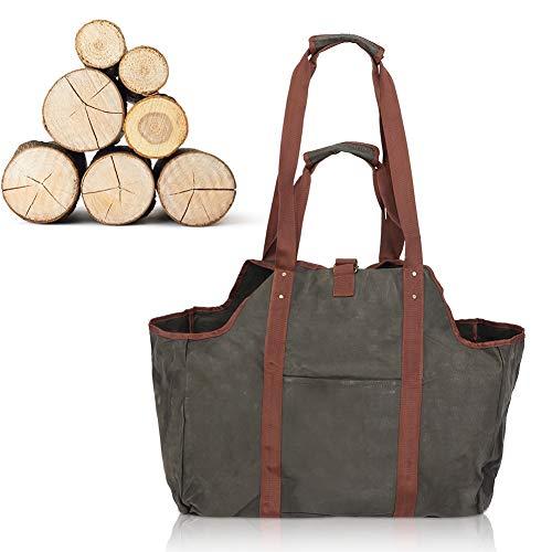 Sac de rangement pour bois de chauffage durable de haute qualité, fourre-tout pour bûches de bois de chauffage, compact facile à plier pour poêle à bois de chauffage