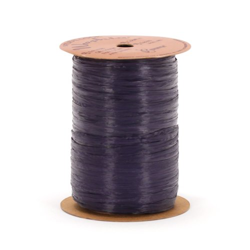 Berwick Offray 1/4'' Wide Matte Raffia Ribbon, Navy Blue, 100 Yards