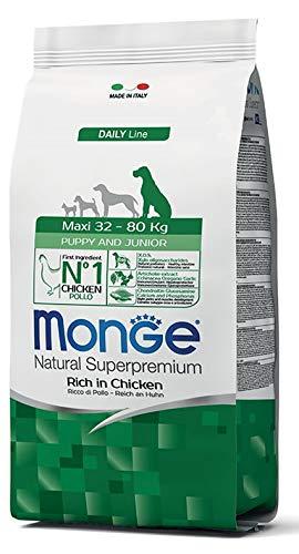 Monge - Natural Superpremium - Maxi Puppy & Junior Ricco di Pollo - Offerta 2 Sacchi da 12 kg