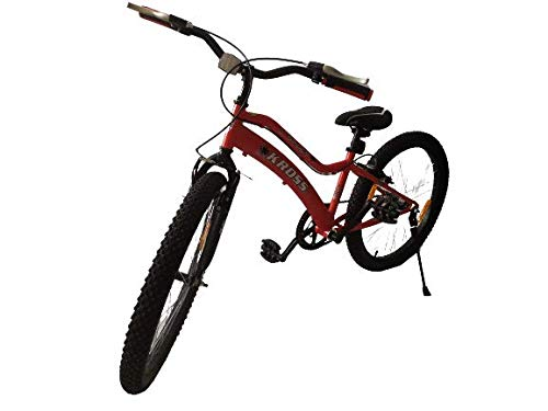 Kross Spider 24T Sports Ranger Mountain Bike Single Speed Bicycle, Girls Boys Kids, Red Cycle, 31.5 cms Steel Frame Age 8-15 Years