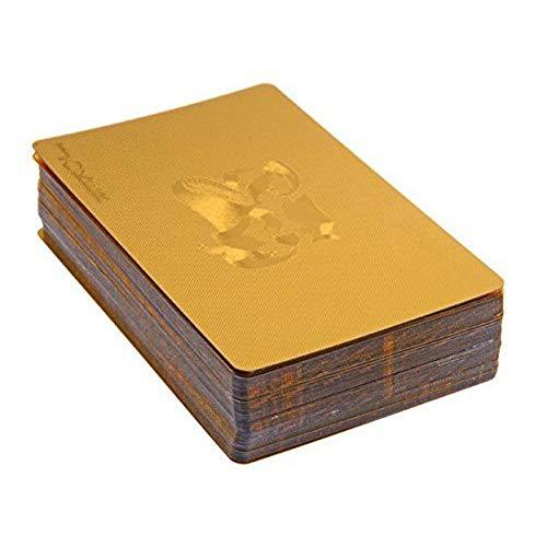 Luxury 24K Gold Foil Poker Carte da Gioco Classic Magia Tricks Strumento Deck Carta de Baralho con Idea Box Buon Regalo Alta qualità, Durevole, Vale la Pena Avere Colorato