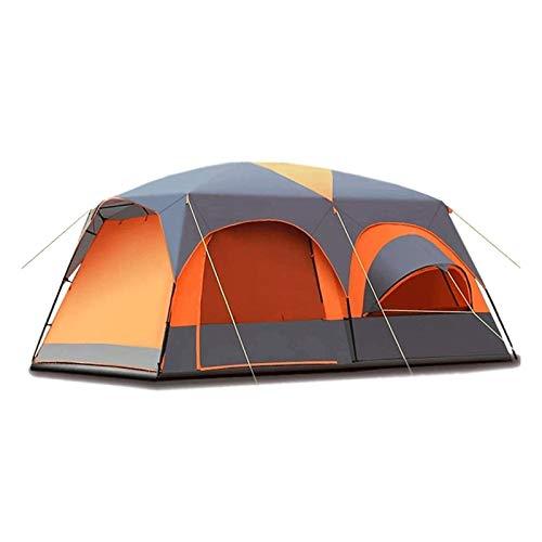 Tienda para Acampar a Prueba de Viento Tienda de campaña Ventanas de Malla Grande Capas Dobles Cortinas separadas Bolsa de Transporte portátil (Color : Orange, Size : 460x300x220cm)
