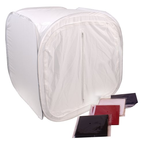 G-Star Photography 24 Inch Studio Photo Light Tent Lighting Box w/ 4 Backdrops
