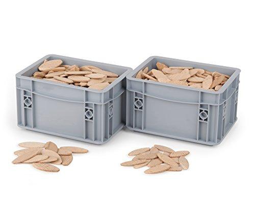 Lamello in schoonmaakkwaliteit/verbindingsplaatjes/platte pluggen/houtverbinder beuken/Lamello 400St / Gr10 + 20 wit