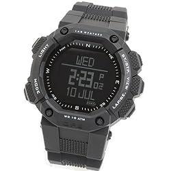 LAD WEATHER GPS-Navigation Altimeter-Digital-Compass Heart-Rate-Monitor Triathlon-Climbing-Jogging-Outdoor-Watch (Black-)