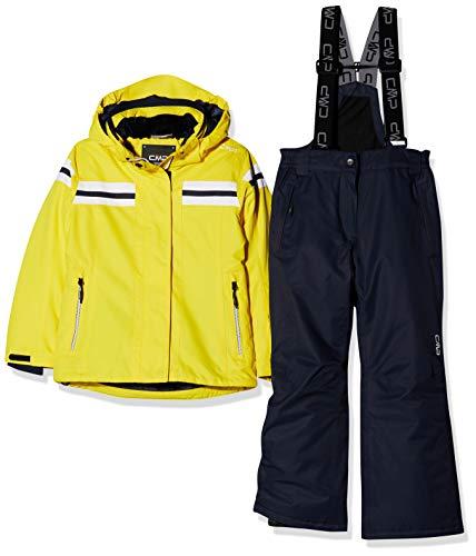 CMP Feel Warm Flat 5.000 39W1995, Set Giacca e Pantaloni Bambina, Yellow, 116