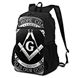 Foldable Ultralight Hiking Travel Backpack Gym Bag For Men Women,Masonic Faith Hope And Charity Freemason Logo Durable Packable School Bags Bookbag For Kids Teens Students Boys Girls 15inch