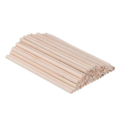 WINOMO 100 stücke 30x0,6 cm Holz Runde Dübelstangen Sticks Für Handwerk Holzbearbeitung DIY Gebäude Modell