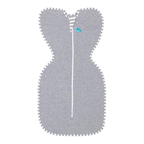 Love To Dream Original, Swaddle UP | 1.0 TOG Baby Swaddle Blanket | All Year Round Newborn Essential | Small – 3.5kg-6kg | Grey