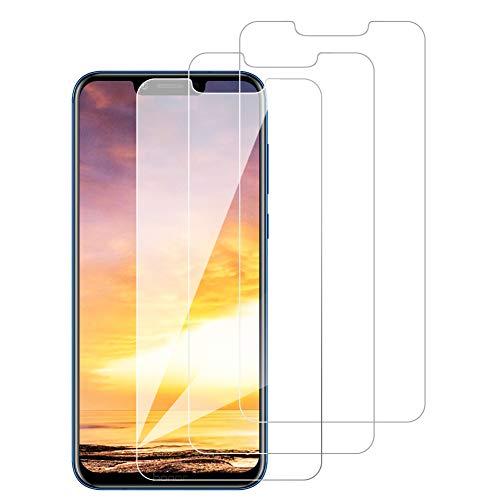 [3 Pack] Amonke Protector Pantalla para Huawei Honor Play Cristal Templado, Plana pero Incompleta Cobertura, 9H Dureza, Anti-Arañazos, Screen Protector para Huawei Honor Play