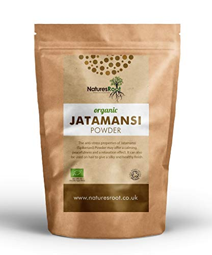 Natures Root Bio Jatamansi Pulver 500g - 100% Reines Nardostachys Jatamansi | Himalaya Baldrian | Fördert die innere Ruhe