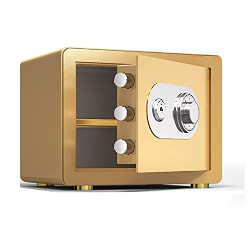 GFDDZ Caja Fuerte, Caja de Seguridad de Volante de código mecánico Contraseña de Doble Apertura Anti-Prying Lock Core Safe Mini Armario de Caja Fuerte de 35x25x25cm
