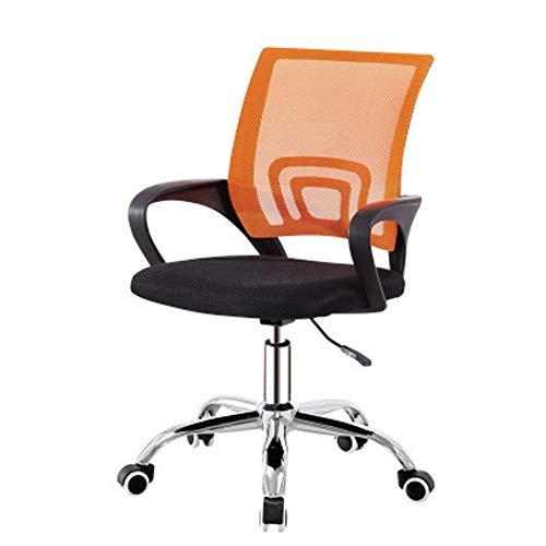 Verano transpirable malla de la oficina de la computadora, ocio ascensor silla de la oficina asiento trasero giratorio asiento-Orangedeep