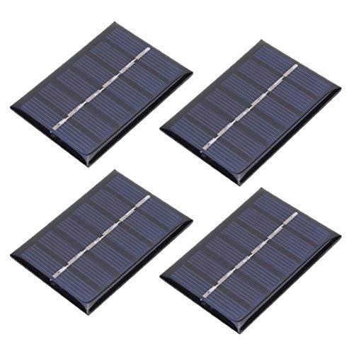 Surebuy Tablero de epoxi Solar de polisilicio, Panel de Carga de energía Solar, Ligero, 4 Piezas, 3 V, 65 x 48 mm, ecológico, Resistente al Agua para pequeñas baterías de CC