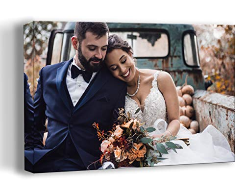 Personalized Photo to Canvas Print Wall Art 12x16 Inch Custom Your Photo On Canvas Wall Art Digitally Printed