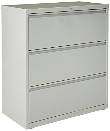 "Lorell Lateral File Cabinet, 36"", Gray"