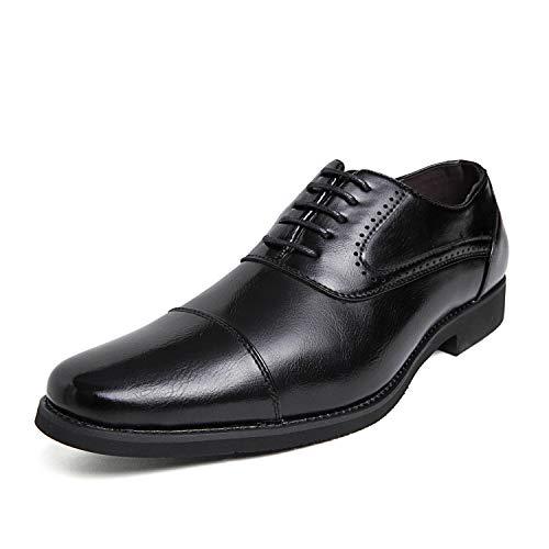 [DUKLUCAK] ビジネスシューズ メンズ ウォーキング 防水高級レザー 黒 ブラック ブラウン 軽量 大きいサイズ 24cm~29㎝ 革靴 紳士靴 ストレートチップ 外羽根 防滑 防臭 防菌 通気 D5207C Black 29㎝