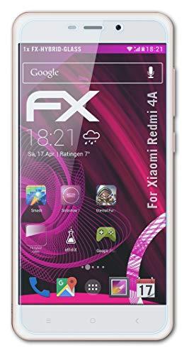 atFolix Glasfolie kompatibel mit Xiaomi Redmi 4A Panzerfolie, 9H Hybrid-Glass FX Schutzpanzer Folie