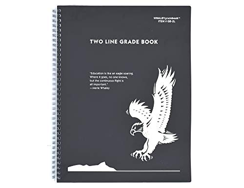Whaley Gradebook (9 x 12 inches) 2-Line Grade And Attendance Record Book, 30 Student Lines, Four Quarters or Six Terms (GB-2L)