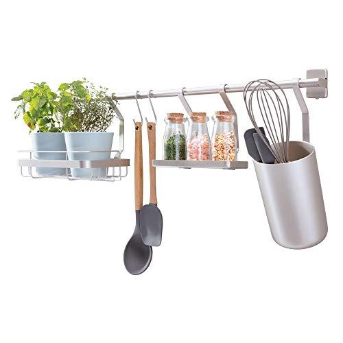 iDesign Austin Barra portautensili cucina, Portaspezie da parete in metallo anche per...