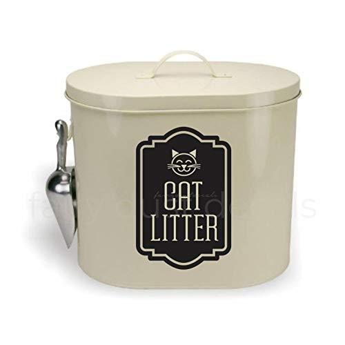 gwcdeccal Etiqueta Adhesiva de Arena para Gatos para contenedor de Arena para Gatos, Etiqueta de Almacenamiento para Mascotas, Arena para Gatos, calcomanía de Vinilo para Amantes de los Gatos