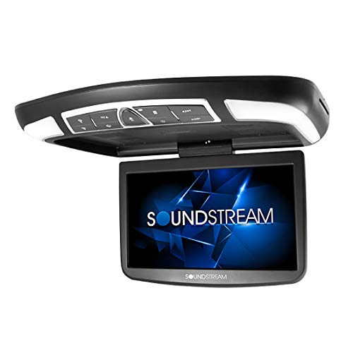 """Sounstream 13.8"""" Car Overhead High-resolution Video Monitor with DVD Player MobileLink Smartphone Mirroring and Remote"""