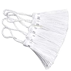 Tassels are made of terylene, handmade and have been processed under high temprature to be straight Suit for any DIY project,diy your own bracelets,necklaces,earrings bookmark,fan candy box,gift bags and other jewelry craft Length: total 4.32 inch(1....