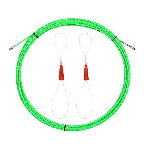 WOVELOT Extractor de Cable de Cinta de Pescado de 14 Mx 5 Mm una TravéS de la Pared, Kit de Empuje y ExtraccióN de Cinta de Pescado EléCtrico