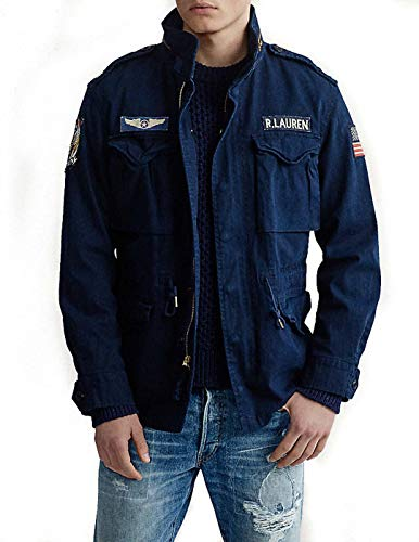 Jacket Polo Ralp Lauren Herringbone Marino x-Large Azul