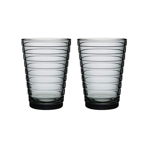 Iittala Aino Aalto Tumbler Trinkglas, Grau, 33 cl, 2er-Set, Design: Aino Aalto 1932