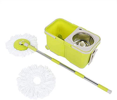 Gaojian Girar Mop Bucket Set, Secado automático Cubeta con Sistema de Limpieza...