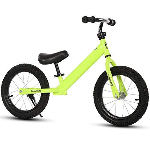BLKykll Kinderfahrrad ohne Pedal, für Kinder 1 2 3 Jahre 12 Zoll, Kinder-Bike, Fahrrad ohne Pedal, Universal, für innen und außen, verstellbarer Lenker und Sitz für Kinder L gelb
